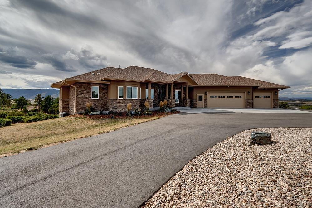 Custom built home in Sedalia Colorado