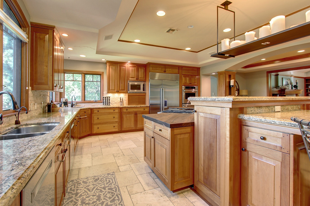 Remodeled kitchen with granite