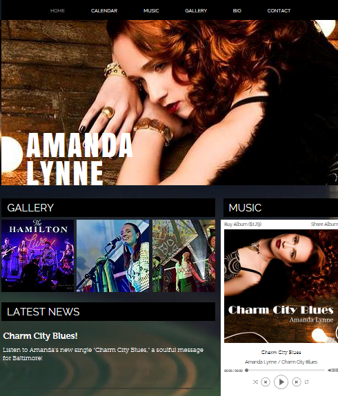 Amanda Lynne Official Website Design