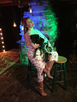 Mae Bliss with Cissie Baby