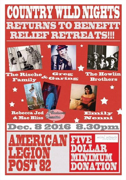 Country Wild Nights Return to Benefit Relief Retreats