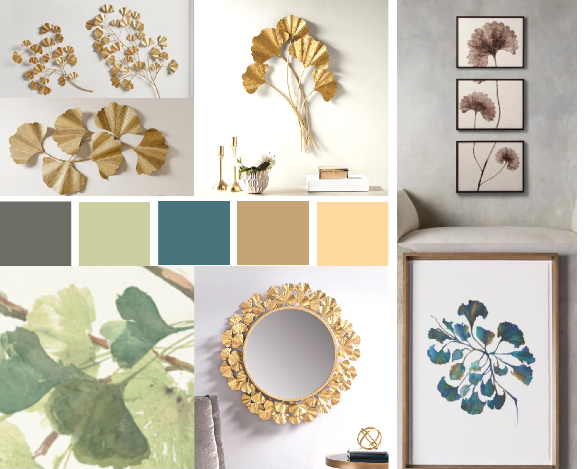 Style Board – Ginkgo Leaves