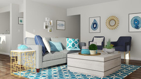 A Touch of Glam Living Room