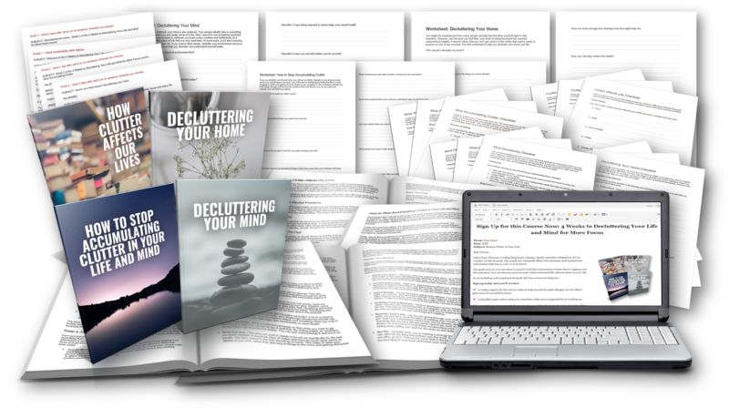 Reduce the Clutter Free Course