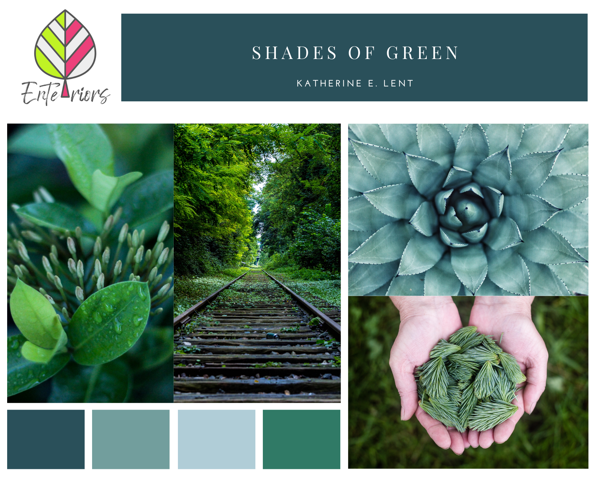 Style Board – Shades of Green