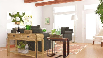 Refined Rustic Living Room
