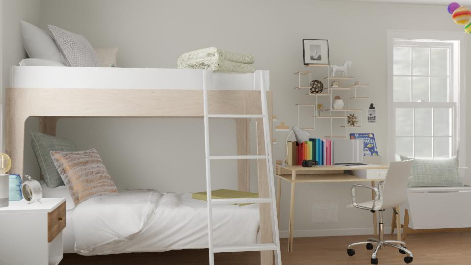 Bunkbeds are great solutions for space for sleeping.