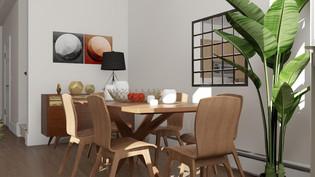 Warm Modern Dining Room