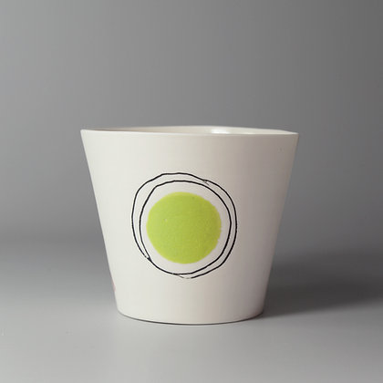 Small cup. Green dot