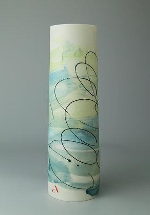 Cylinder vase. Light surf