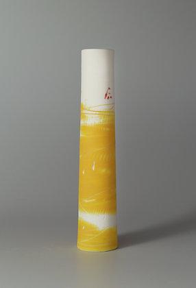 Stem vase. Yellow