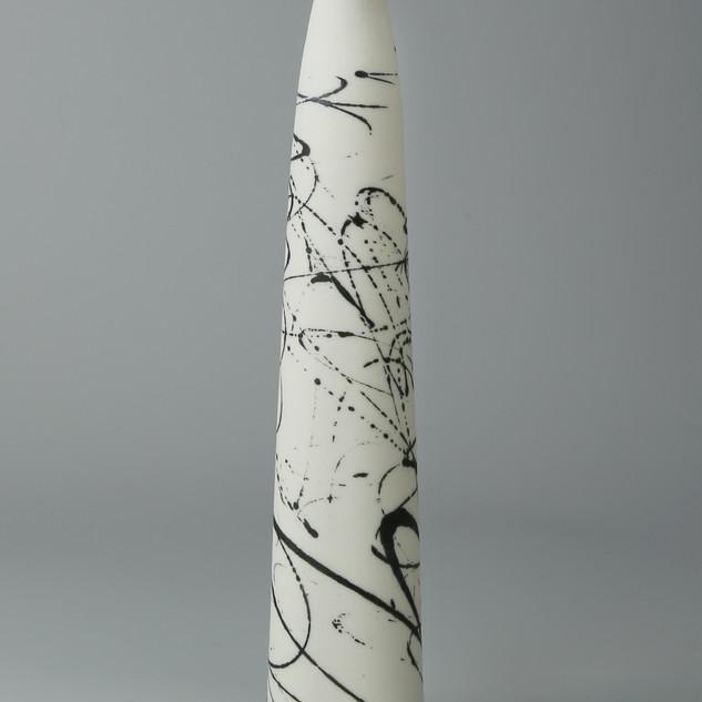 Stem. Black scribble tapered