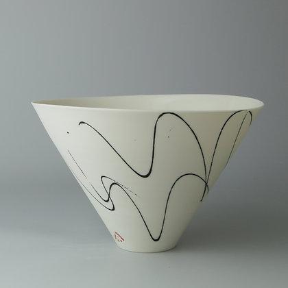 V bowl. Black squiggle 2