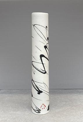 Stem vase. Black squiggle