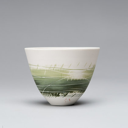 Small cup/bowl. Two greens