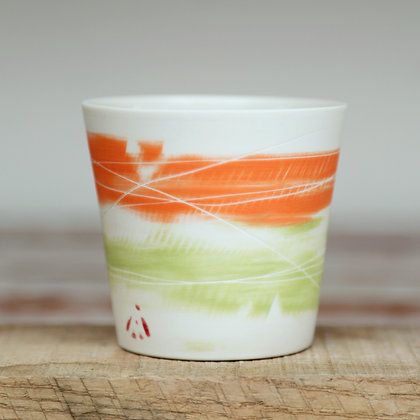 Small cup. Orange & lime