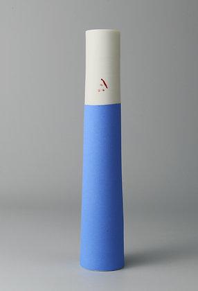 Stem vase. French blue