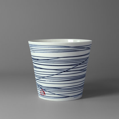Small cup. Blue lines