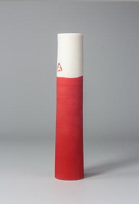 Stem vase. Red
