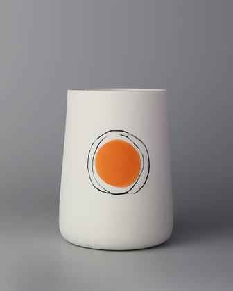 Tall cup. Orange dot