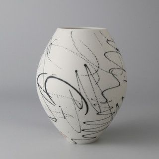 Small rounded vase. Scribble