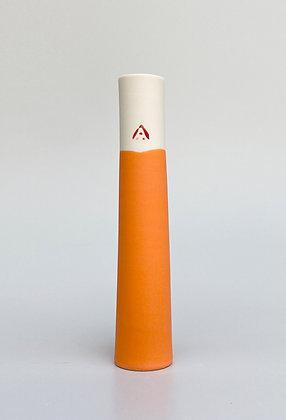 Stem vase. Orange