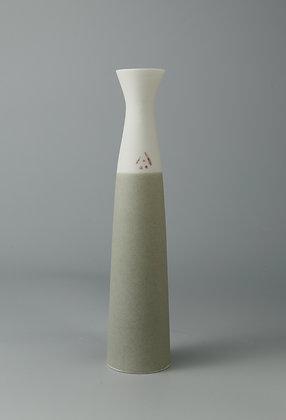 Stem vase fluted. Olive