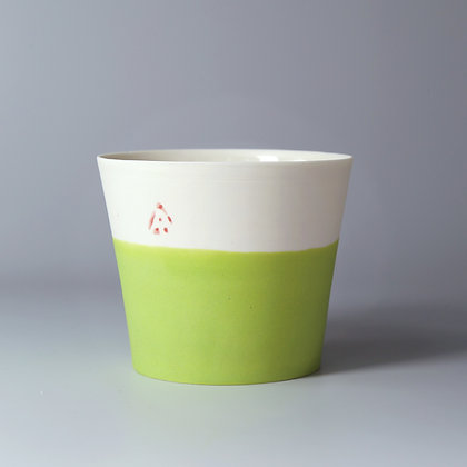 Small cup. Lime green