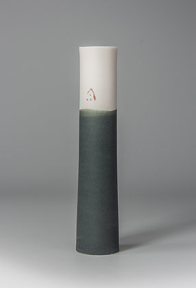 Stem vase. Charcoal