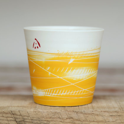 Small cup. Yellow