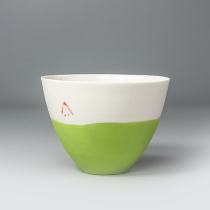 Small cup/bowl. Lime green