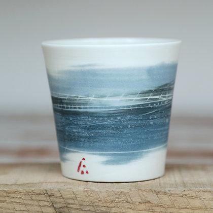Small cup. Blues landscape