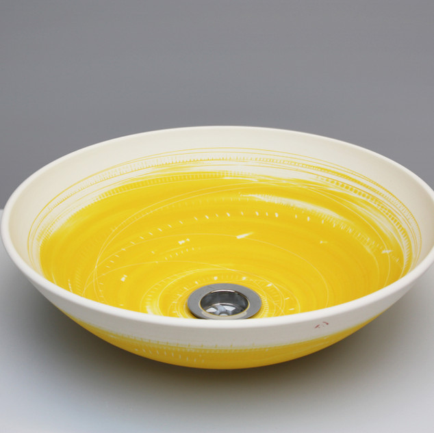 Yellow wash basin. £650