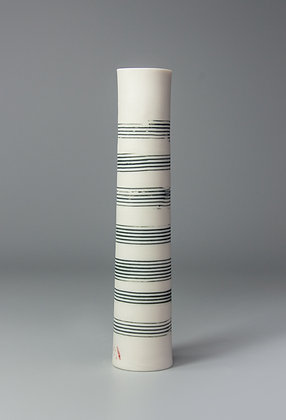 Stem vase. Music lines