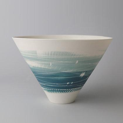 V bowl. Two teals