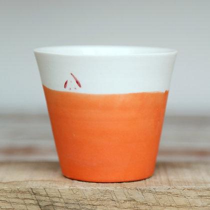 Small cup.Orange