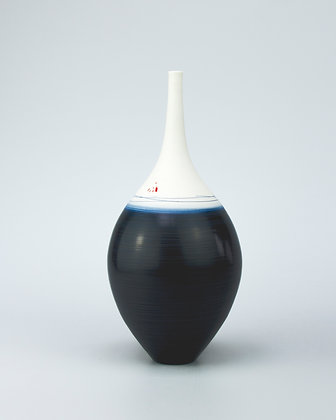 Teardrop vase. Indigo