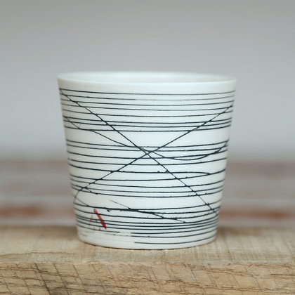 Small cup. Black lines