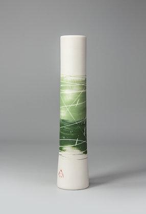 Stem vase. Two greens