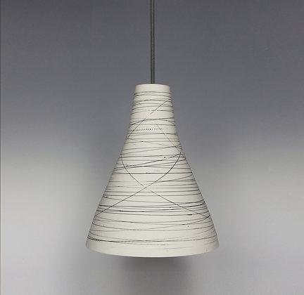 Large light. Bell shape. Black lines