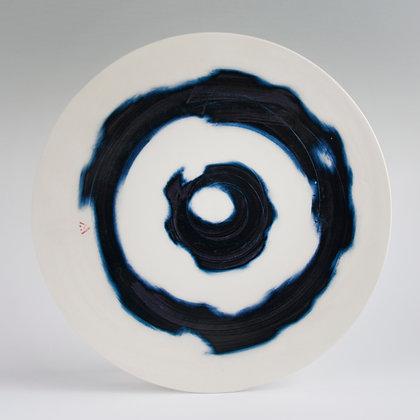 Flat platter. Tie dye
