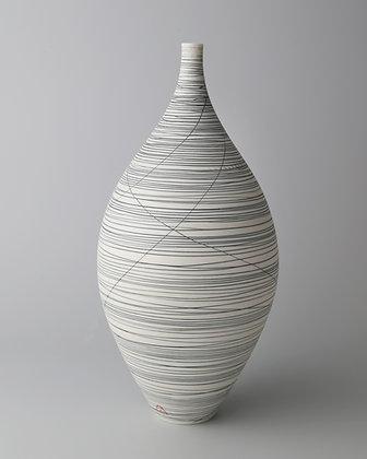 Bottle vase. Black lines