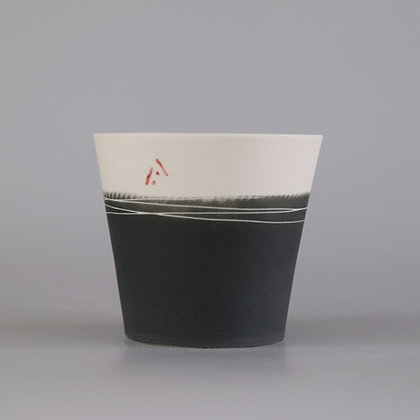 Small cup. Charcoal