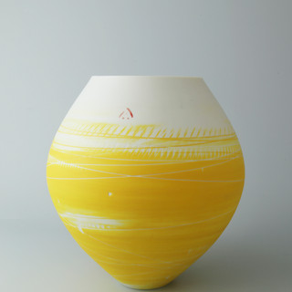 Spherical vase. Yellow