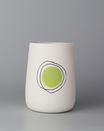 Tall cup. Green dot