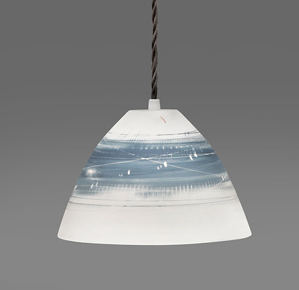 Small light. Conical shape. Two blues
