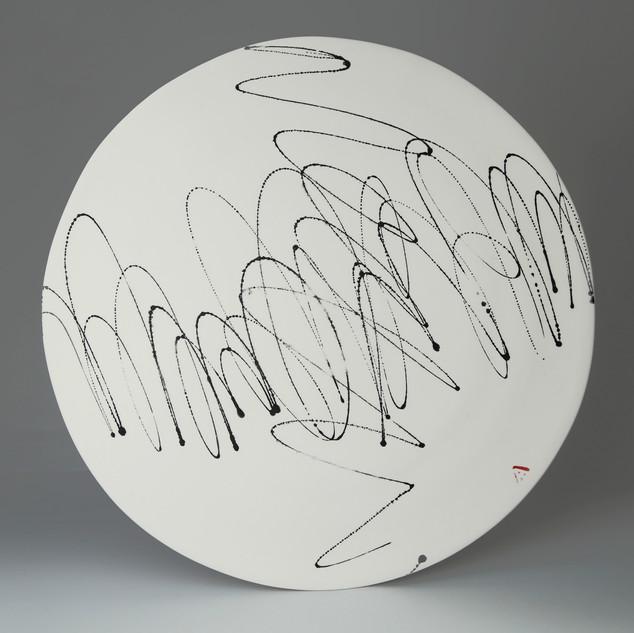 Platter. Black sribble