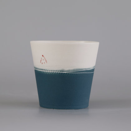 Small cup. Teal