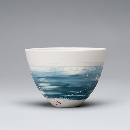Small cup/bowl. Two blues