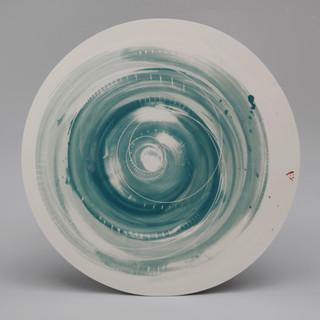 Platter. Two teals